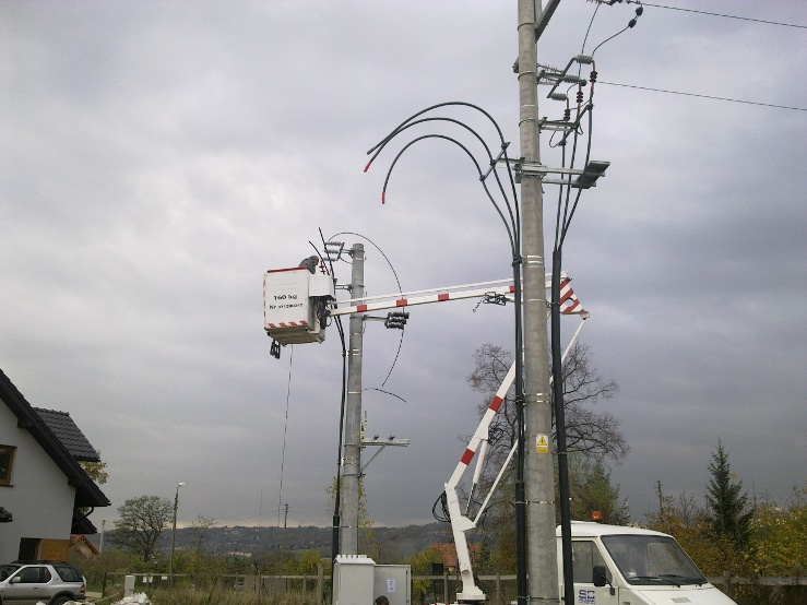Budowa stacji transformatorowej i sieci kablowej SN i nN w Wieliczce